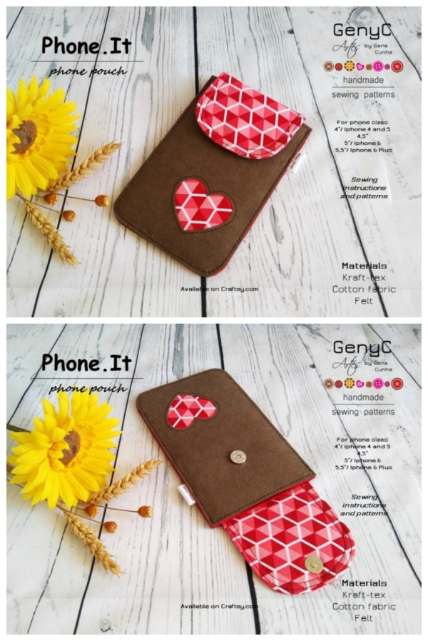 GenyC Phone.IT Phone Pouch sewing pattern