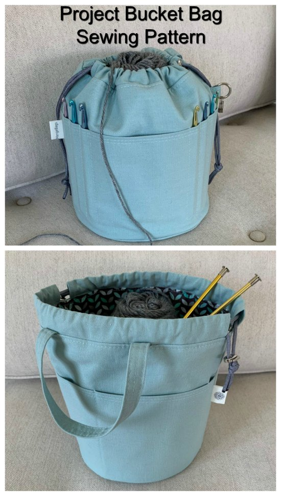 "The ""Project Bucket Bag"" is the perfect bag for keeping your projects organized."
