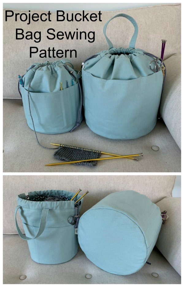 "The ""Project Bucket Bag"" is the perfect bag for keeping your projects organized and as a bonus it comes in two sizes – medium and large. There are all sorts of pockets designed around the entire bag which you can customize for your specific needs. This easy to make project is perfect for art supplies, gardening supplies, tool bag, sewing bag, toy bag, and much more!"