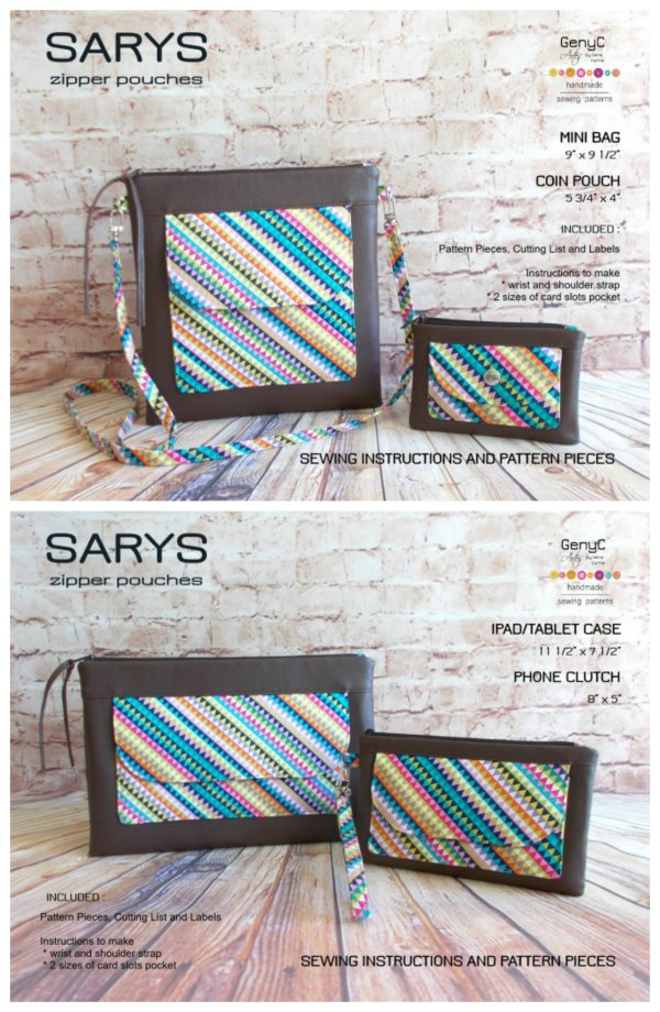 It's always a pleasure to find a pattern that gives its buyer exceptional value. The Sarys Zipper Pouches is from a most talented designer and she gives you patterns for four different zipper bags.