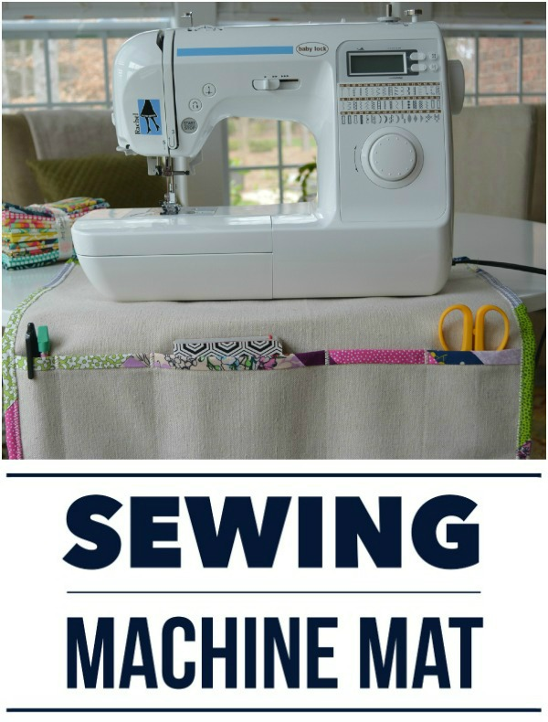 Sewing Machine Mat and Organizer sewing tutorial