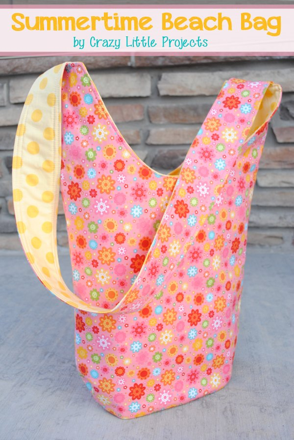 Summertime Beach Bag Tote FREE sewing tutorial