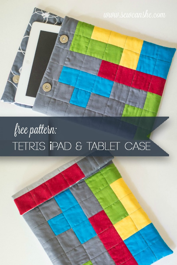 Tetris Themed iPad And Tablet Case FREE sewing pattern