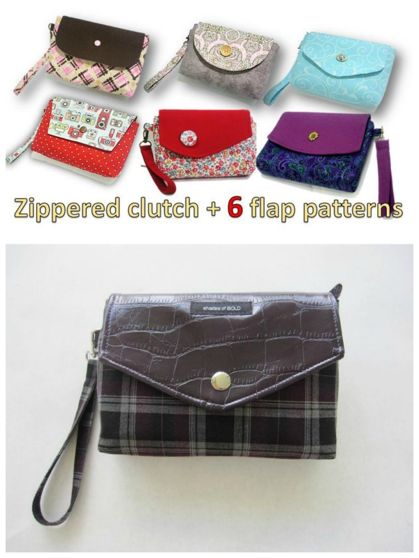 This is a fun and simple clutch that even confident beginners can make without many difficulties. The zipper is added to avoid things from slipping, thus making this a very practical bag.