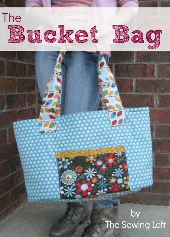 Big Bad Bucket Bag FREE sewing pattern.