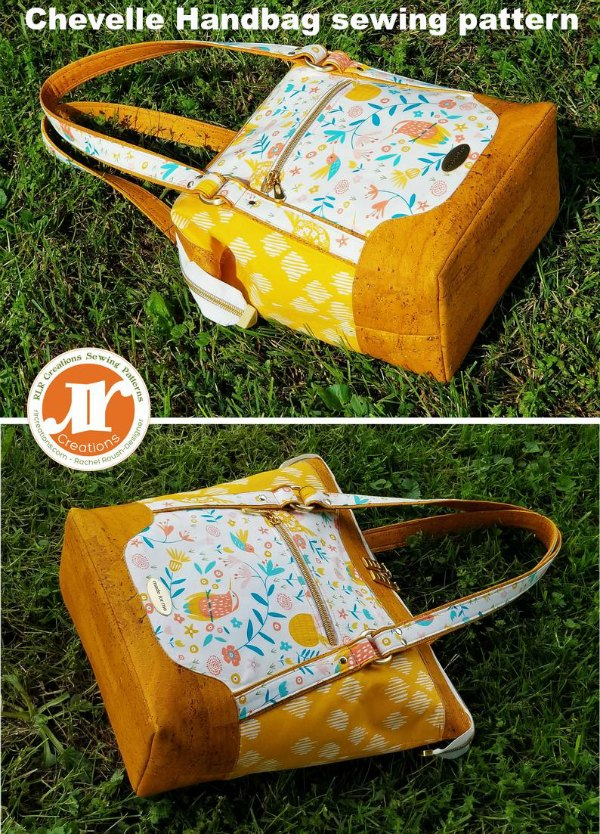 Why not make this lovely Chevelle Handbag. It has a spacious interior and various storage pockets inside and out to ensure everything has its place. The Chevelle handbag is lightweight in feel making it the perfect everyday bag. Best of all if you prefer a low profile, small tote size handbag, for everyday use simply omit the internal frames and you can create the ideal sized carry everywhere tote bag.