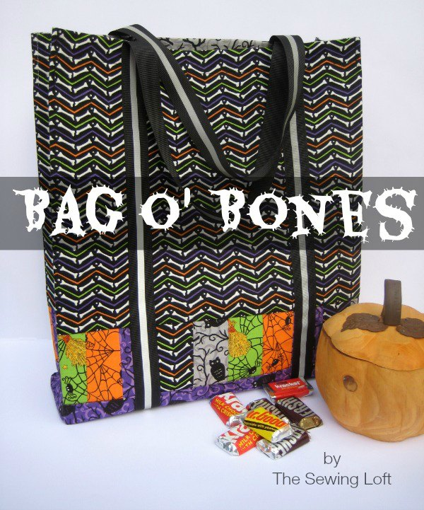 There is just one month to go and Halloween will be upon us. It's a great time for your little ones to dress up, have some amazing fun and go knocking on doors to get some free candy. This brilliant designer has created her Bag of Bones Halloween Tote Bag free digital pattern so that you can make this bag and your little ones can have something cute to carry home all their treats.