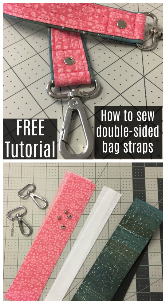 "We don't bring you many ""How to"" tutorials, but when we do they are always very popular. Today we have a gem of a FREE tutorial from a first-rate bag designer. So if you would like to know ""How to sew double-sided straps"" then this is the tutorial for you."