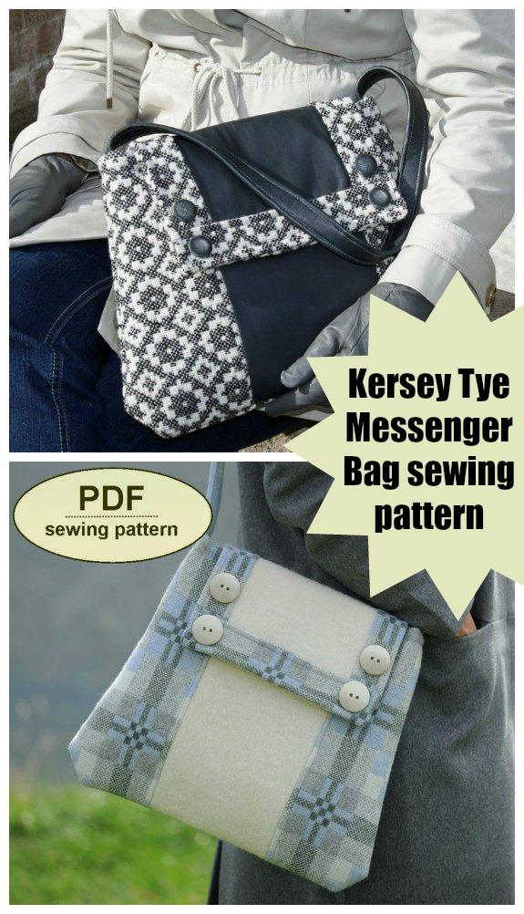 Kersey Tye Messenger Bag sewing pattern