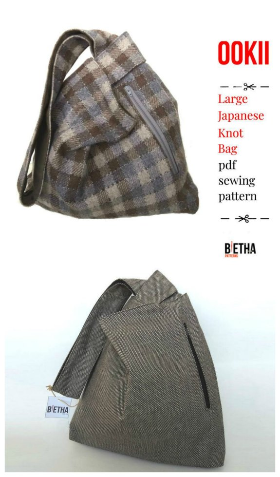 Here's your chance to make a lovely Large Japanese Knot Bag with this wonderful digital pattern.