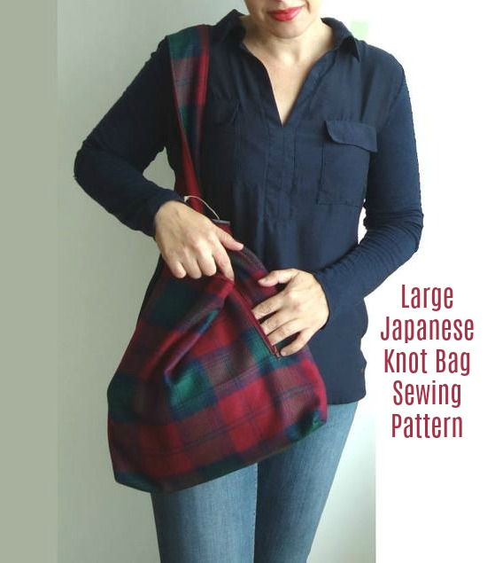 Large Japanese Knot Bag pattern 1