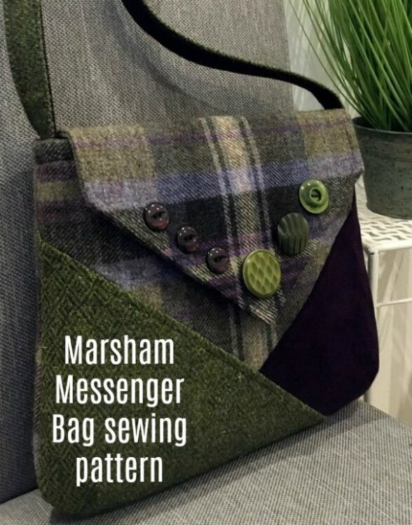 This amazing designer has got another winner here with this strikingly simple messenger bag that is the ideal size for everyday use. This is a sewing pattern for The Marsham Messenger Bag, inspired by the 1940s 'make-do-and-mend' era.  It is pieced together with three contrasting fabrics to give a homespun look with infinite possibilities.