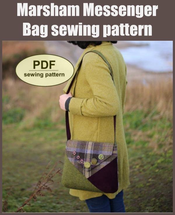 Marsham Messenger Bag sewing pattern