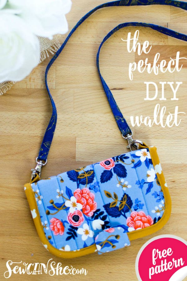 This awesome designer must have one of the most comprehensive collections of free patterns of any sewing designer there is and this one is her Perfect DIY Wallet.
