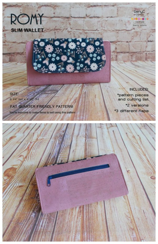 This is a super nice wallet which can be made in 2 different versions, a flat bi-fold or with accordion side tabs and you can choose from 3 different closures.