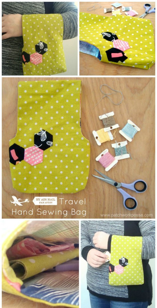 Small Traveling Craft Bag FREE sewing pattern.
