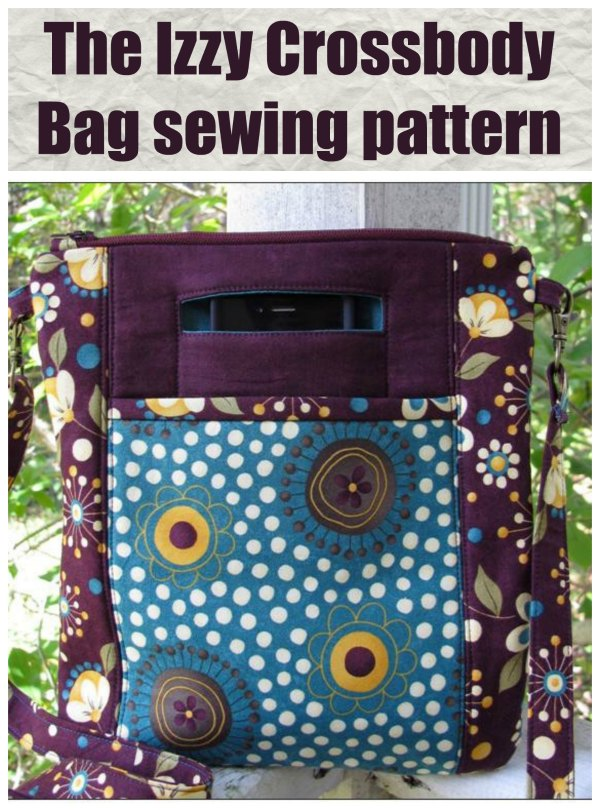 This is The Izy Crossbody Bag. It's a great looking bag that is both fun and simple to sew. If you would like to make a practical bag quickly and easily then this bag is a fabulous choice.
