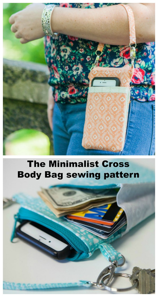 "This is this designers best-selling pattern and you can see why it's an absolute beauty. ""The Minimalist"" Cross Body Bag is a mini purse that can carry your cell phone, credit cards and few other essentials. However, don't be deceived by the size of ""The Minimalist"", you can fit quite a bit in this little bag."