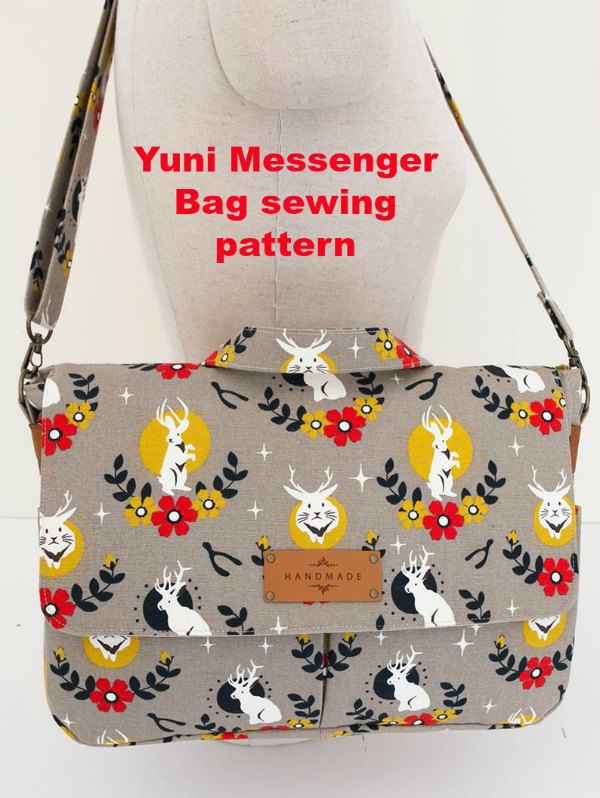 If you would like to make yourself a really casual but stylish messenger bag then we think we have the perfect digital pattern for you, it's called the Yuni Messenger Bag. This accomplished designer has created a bag that is perfect for your everyday use