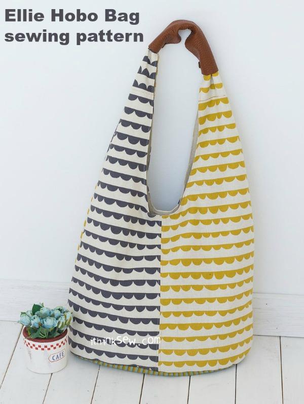 Ellie Hobo Bag sewing pattern.