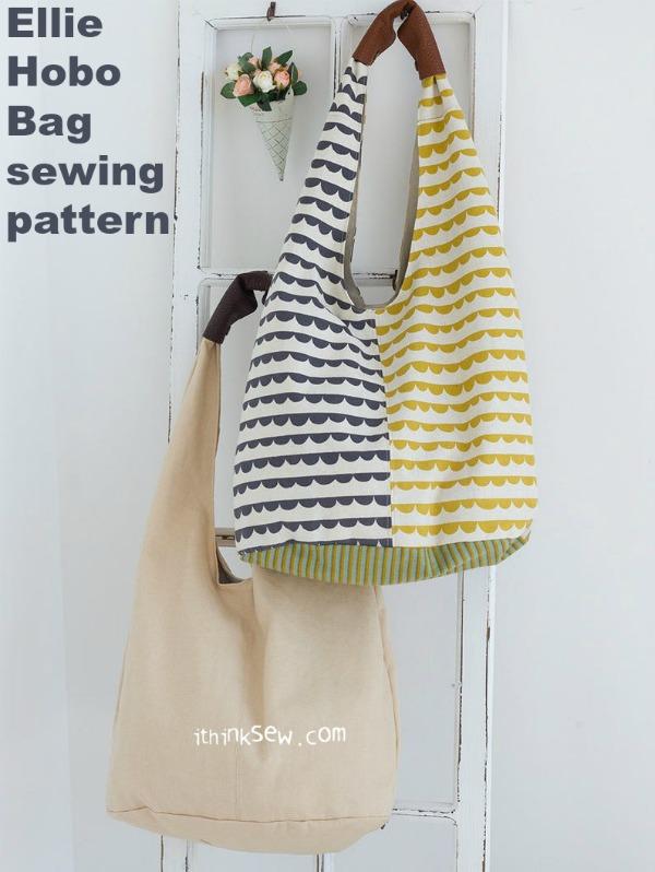 Ellie Hobo Bag sewing pattern