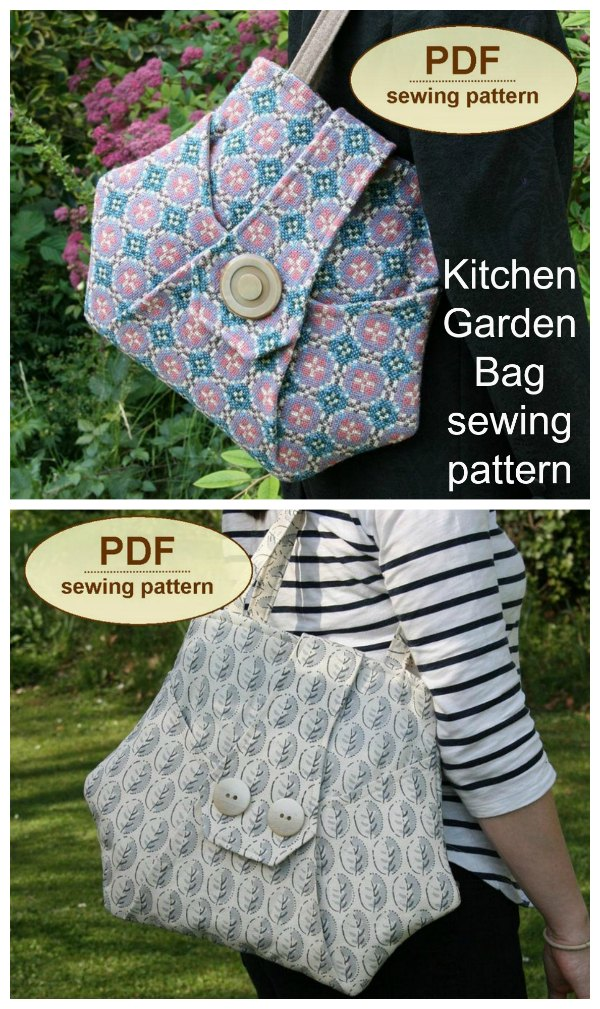 Kitchen Garden Bag sewing pattern