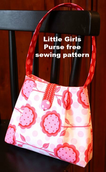 Little Girls Purse free sewing pattern