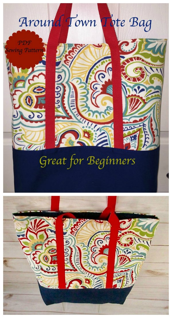 Around Town Tote Bag pattern
