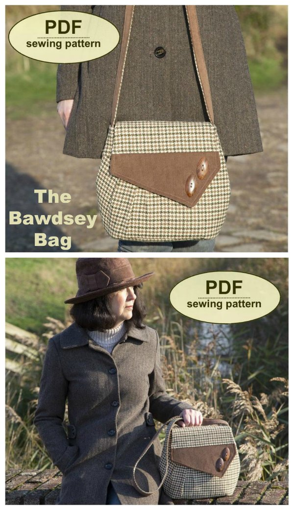 The Bawdsey Bag features front pleat detail and an asymmetrical flap with contrast trim.
