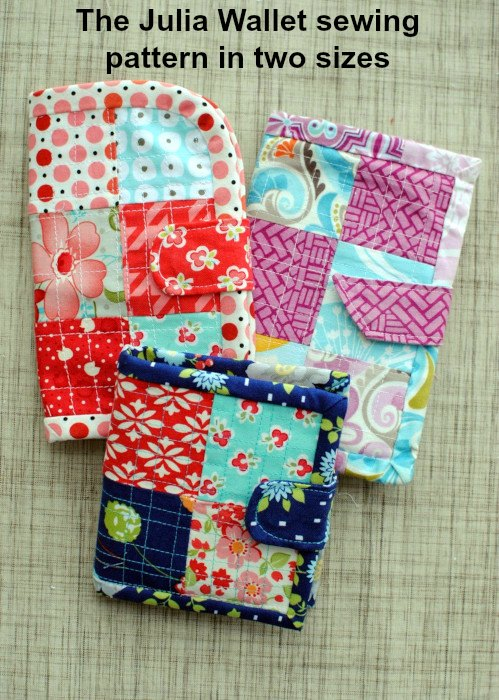 This is the downloadable pattern for the Julia Wallet which comes in two sizes and variations in the same pattern, making it easily adaptable to your own design.