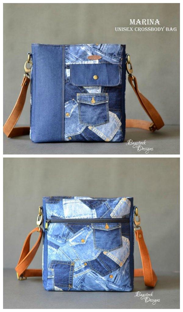 Marina Unisex Crossbody Bag sewing pattern