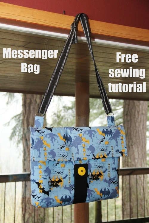 This is a fabulous free sewing tutorial that the talented designer drew up to make a Messenger Bag for her daughter. The plan was for her daughter to sometimes put her notebook computer in her padded messenger bag and take it safely to school.