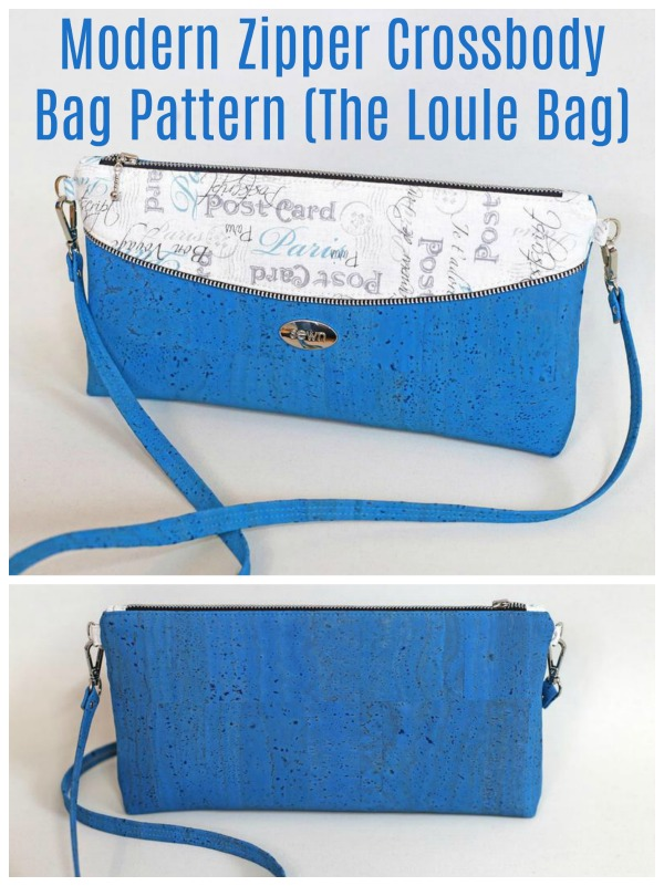 Loule crossbody bag, wallet or clutch bag sewing pattern