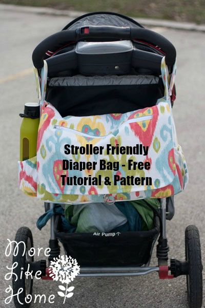 Stroller friendly diaper bag free sewing pattern
