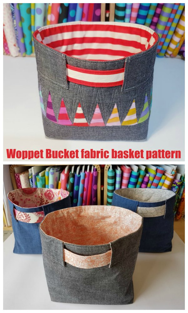 If you need a sewing pattern to make a lovely fabric basket then we have an excellent one here for you named the Woppet Bucket. The Woppet Bucket is a beginner level sewing pattern in a Japanese style.  You can make these fabric Woppet Buckets to store all kinds of things at your home, your workplace, or anywhere you want to use them.