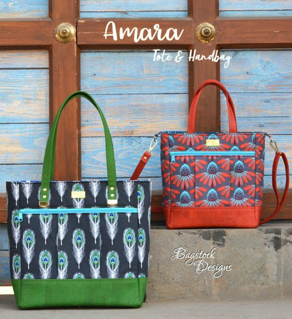 Every time that we feature this designer's bag patterns on our website we always receive very positive comments and feedback. With this pattern, she has provided two projects in one downloadable pattern. The Amara is a classic bag design. It comes in a Tote size that is perfect as a diaper bag or travelling bag, and in a Handbag size that is ideal for daily use.