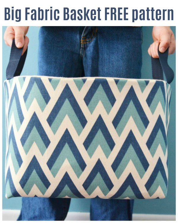 This is a Big Fabric Basket and the designer has made her tutorial and pattern free to everyone.  Make yourself one and keep in it whatever you want.