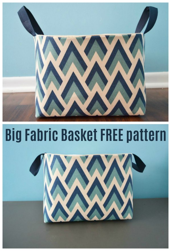 fabric basket sewing pattern for free