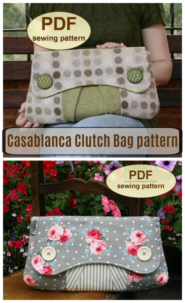 Sewing pattern for the Casablanca Clutch Bag