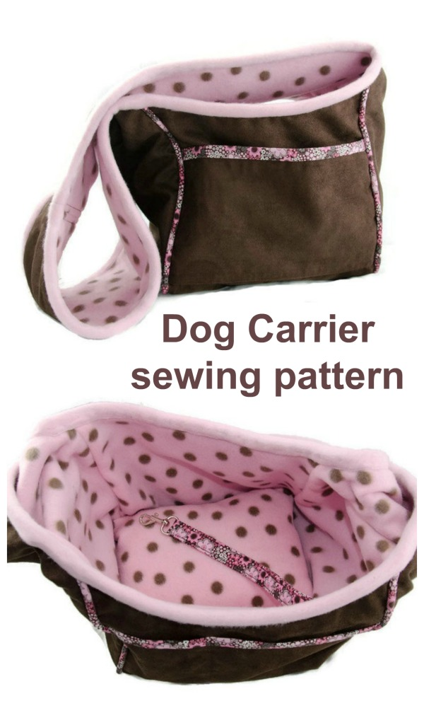 Well, this is a first for us at Sew Modern Bags. We've found you all a fabulous Dog Carrier sewing pattern. The brilliant designer who has in excess of 30 years of sewing experience designed this bag for her own dog.