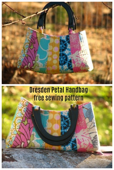 This is a super pretty purse and the designer has been very generous in giving us all the pattern and tutorial free of charge. The Dresden Petal Handbag gets its name from the only pattern piece that this project has - a modified Dresden petal.