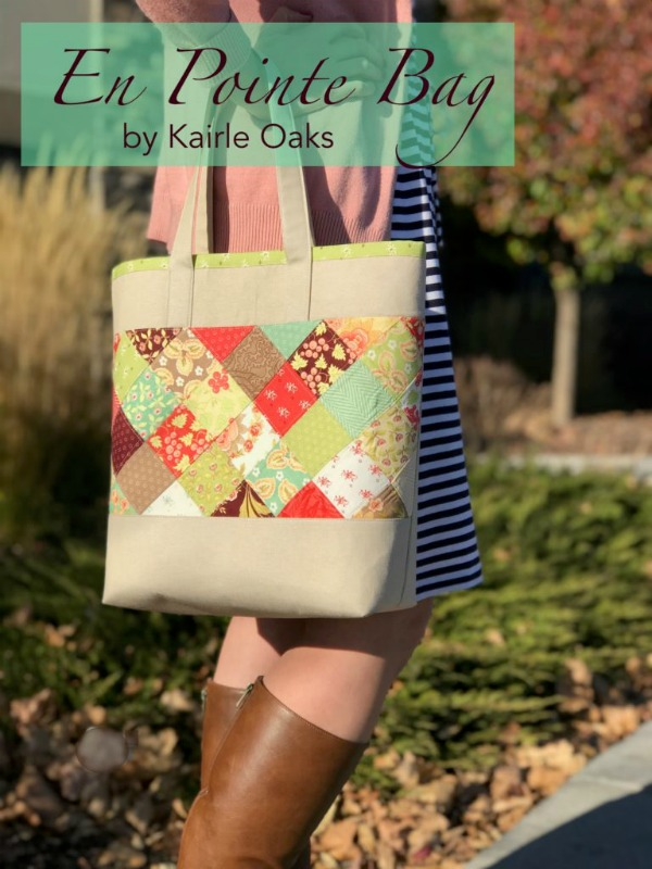Tote Bags are one of the most popular bags there are and this one comes with a free pattern. The designer of the En Pointe Tote Bag made her bag the perfect size for your wallet, phone, and as she says all of the little odds and ends that you will pick up along your way.