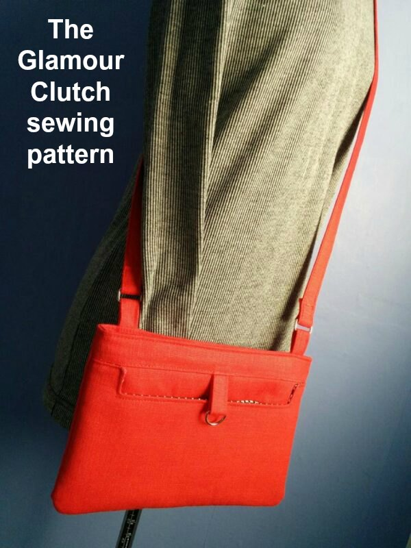 Digital sewing pattern. This is a Clutch great for a night on the city, where you only need to take the essentials. There is a pocket on the exterior panel and it closes with a magnetic snap.