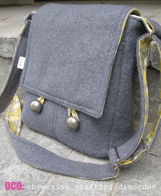 Bag Lady Messenger Bag - FREE sewing pattern.