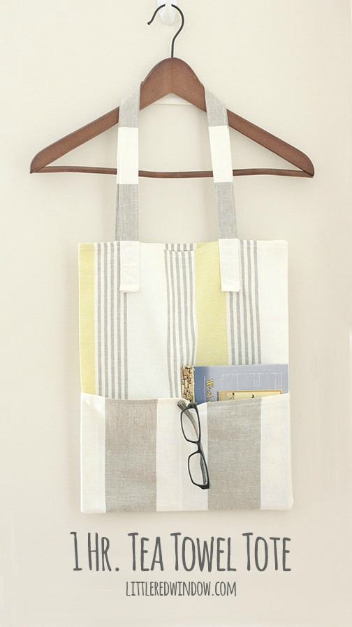 We have found you another free pattern for a Tote Bag. This time the designer has put together a super easy tutorial to make her One Hour Tea Towel Tote Bag. As the name suggests it's also super quick to make and all you will need to buy is 2 new tea towels.