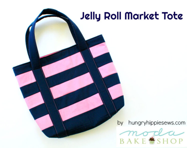Jelly Roll Market Tote Bag FREE sewing pattern