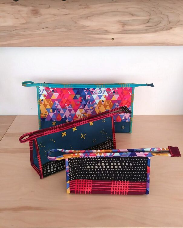 Sewing pattern for the Kinley Pouch which is a versatile pattern that you will find so many uses for.