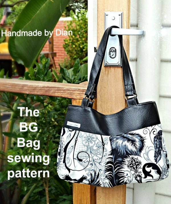 The BG Bag is a fantastic beginner to intermediate sewing pattern that comes in two sizes. The patterns are very easy to follow and each of the bags is a quick and easy project. And as an added bonus both bags have the option of being reversible.