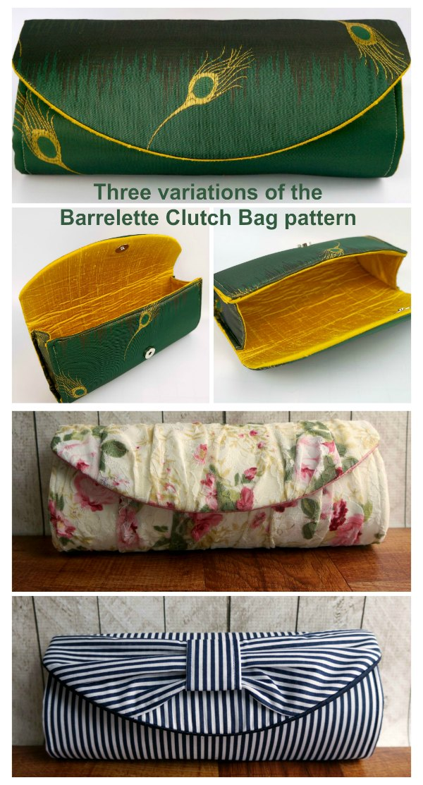This the Barrelette Clutch Purse pattern and it is perfect for you to make as a glamorous evening purse. This purse is simple to make and as a bonus, the designer has included three variations of the clutch purse for you to make.