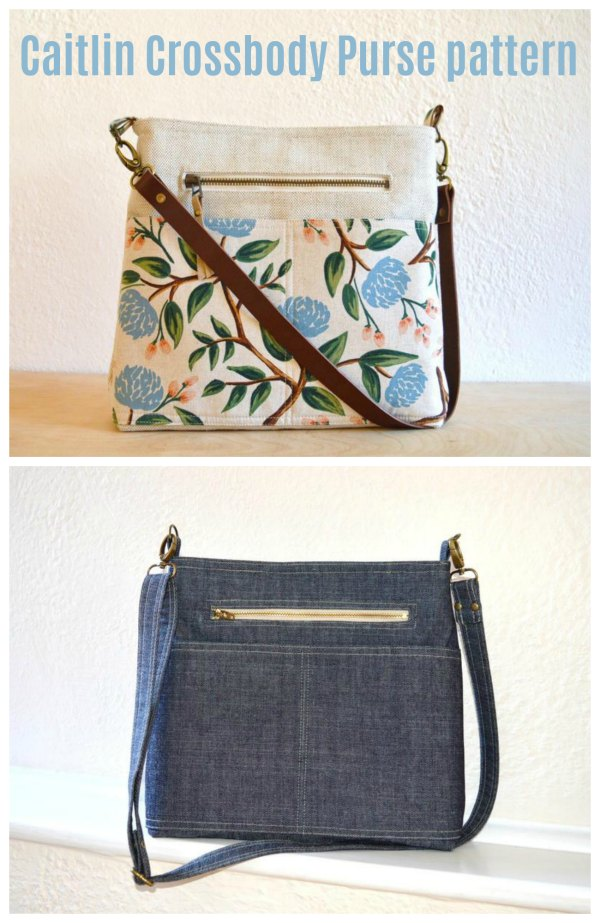Here is a beautiful and practical purse that is ideal for everyday use. It's called the Caitlin Crossbody Purse and it's fully lined and has four pockets of which two are zippered for added security.